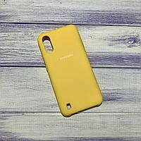 Чохол Silicone Case Samsung Galaxy A01 (2020) / A015 Жовтий