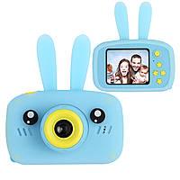 Цифровой детский фотоаппарат XOKO KVR-010 Rabbit Голубой+карта памяти 32 Гб