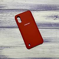 Чохол Silicone Case Samsung Galaxy A01 (2020) / A015 Червоний