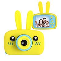 Цифровой детский фотоаппарат XOKO KVR-010 Rabbit Желтый+карта памяти на 32Гб