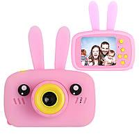 Цифровой детский фотоаппарат XOKO KVR-010 Rabbit Розовый+карта памяти