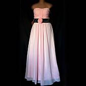 Платье вечернее шифоновое, корсаж, размер 14(48)