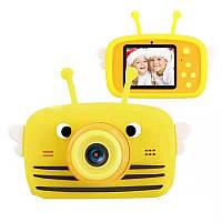 Цифровой детский фотоаппарат XOKO KVR-100 Bee Dual Lens Оранжевый+карта памяти на 32Гб
