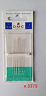Голки вишивальні бісерні  DMC № 10 -12 (6 шт)/ Иглы вышивальные бисерные DMC № 10-12 (6 шт), фото 1