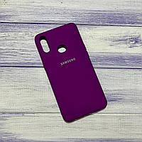 Чехол Silicone Case Samsung Galaxy A10S (2019) Баклажан