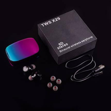 Беспроводные сенсорные блютуз наушники AirPlus Pro X29 вакуумные c кейсом Power bank 2000mah, фото 2