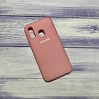 Чохол Silicone Case Samsung Galaxy A40 (2019) Рожевий