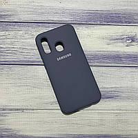 Чохол Silicone Case Samsung Galaxy A40 (2019) Синьо-сірий