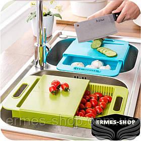 Разделочная доска на мойку для кухни | Доска для мытья и шинковки овощей
