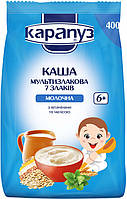 Каша молочная мультизлаковая 7 злаков с витаминами и мелиссой 6м+ 400г Карапуз Украина 1062125