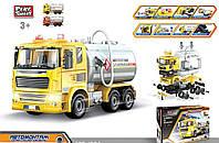 Конструктор Бензовоз автомонтаж Play Smart высококачественный дизайн игрушки 88 деталей, свет, звук, в коробке