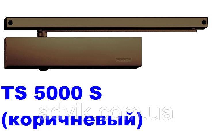Доводчик с задержкой закрытия Geze TS 5000 S со скользящей тягой (коричневый)