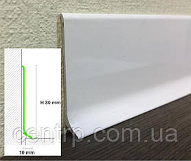 Алюминиевый плинтус для пола Profilpas Metal Line 90/8 высота 80 мм
