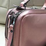 Сумка женская кожаная розовая, фото 3