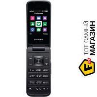 Philips Xenium E255 Blue мобильный телефон для работы, недорогие раскладушка GPRS, WAP синий