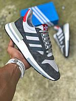 Мужские кроссовки Adidas ZX 500 RM Grey Four , Реплика