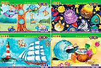 Альбом для малювання, А4, 8 аркушів, 120 г/м2, на скобі, KIDS Line 20шт в упак. /12//480/