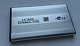 """USB 2.0 внешний металлический карман кейс флешка для 2.5"""" SATA HDD SSD, фото 4"""