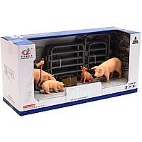 Игровой набор Zhongjieming Toys «Ферма» животные, фигурки (Q9899-Z7)