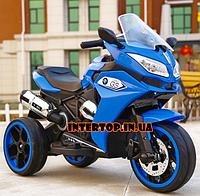 Детский трехколесный электро мотоцикл от 3 до 6 лет BMW синий. Мощность 70ВТ BMW M 3688EL-1