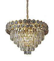 Люстра светильник хрустальный в классическом стиле для зала гостинной спальни Levistella 756PR1005-6+1 GD