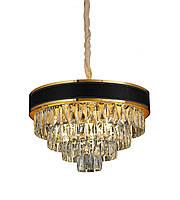 Люстра светильник хрустальный в классическом стиле для зала гостинной спальни Levistella 756PR1008-5+1 GD