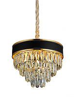 Люстра светильник хрустальный в классическом стиле для зала гостинной спальни Levistella 756PR1008-4+1 GD