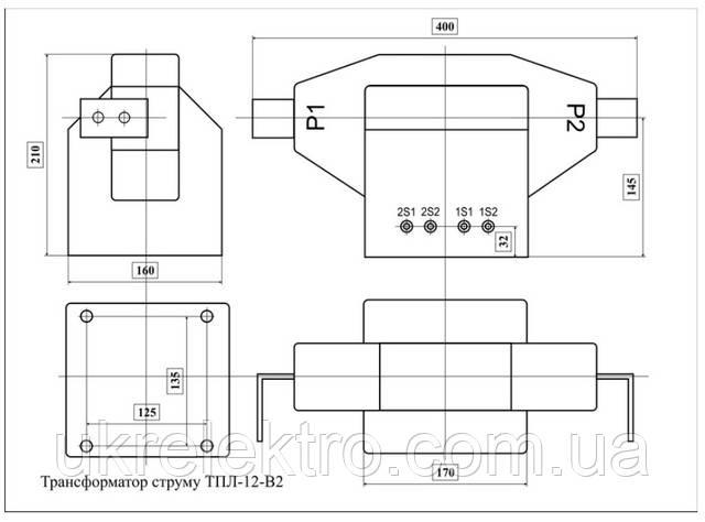 Габаритные размеры ТПЛ-12-В2
