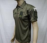Военные уставные футболки поло Олива ВСУ ( ЗСУ), НГУ., СБУ, Погранслужба кулмакс (coolmax)