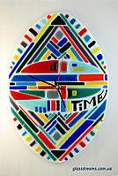 "Часы настенные из стекла ""Time""."
