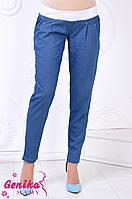 Штани для вагітних з полегшеного джинса 1105 (синій)