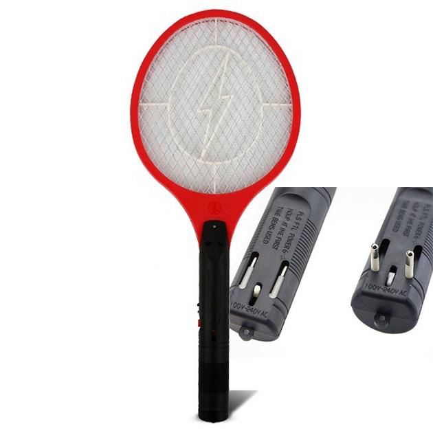 Электрическая мухобойка Rechargeable Mosquito-hitting Swatter красная