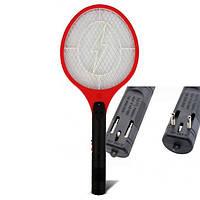 Электрическая мухобойка Rechargeable Mosquito-hitting Swatter красная, фото 1