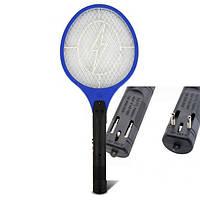 Электрическая мухобойка Rechargeable Mosquito-hitting Swatter синяя, фото 1