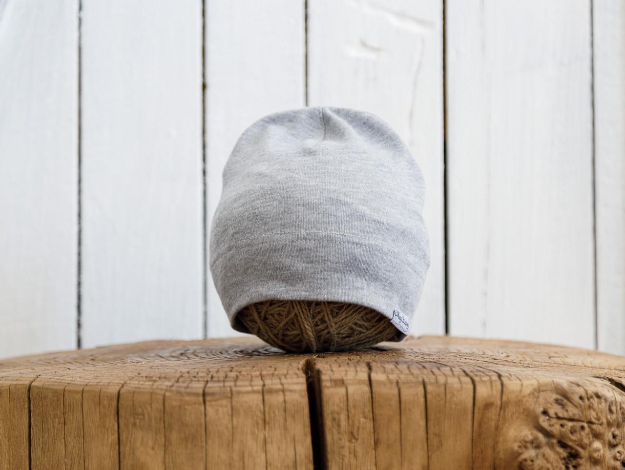 """Трикотажная шапка """"Klin"""", Серый меланж"""