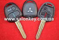 Корпус ключа Mitsubishi outlander, pajero, L200, 3 кнопки Лезвие MIT 8L