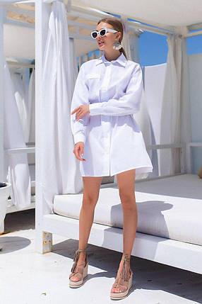 Летнее платье-рубашка под пояс, фото 2