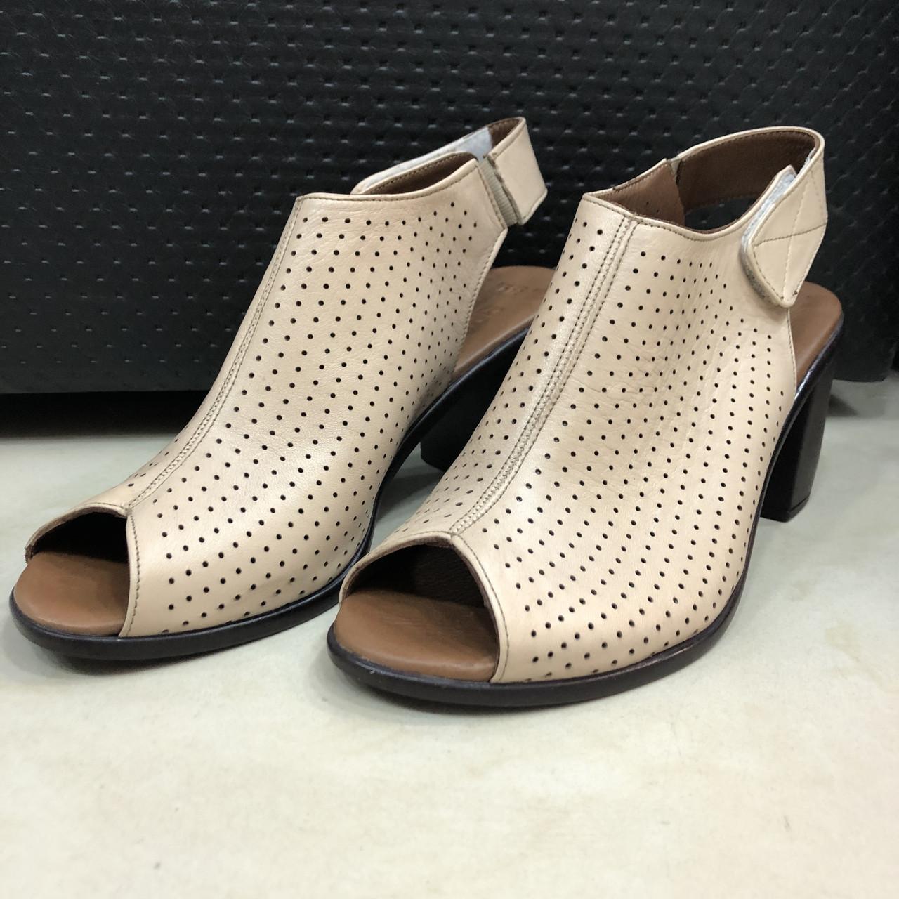 Босоножки сандалии женские кожаные бежевый BRENDA