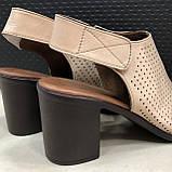 Босоножки сандалии женские кожаные бежевый BRENDA, фото 2