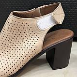 Босоножки сандалии женские кожаные бежевый BRENDA, фото 3