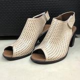 Босоножки сандалии женские кожаные бежевый BRENDA, фото 5