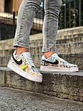 Кроссовки женские Nike Air Force 1 в стиле Найк форсы белые (Реплика ААА+), фото 4