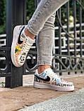 Кроссовки женские Nike Air Force 1 в стиле Найк форсы белые (Реплика ААА+), фото 6