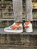 Кроссовки женские Nike Air Force 1 в стиле Найк форсы белые (Реплика ААА+), фото 7