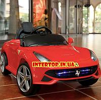 Детский электромобиль Ferrari на пульте с кожаным сиденьем, M 3176EBLR-2 красный