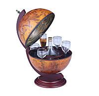 Глобус бар настольный 330 мм коричневый