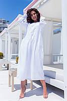 Женское шикарное стильное платье.Ткань батист+вышивка+нашитый бисер+подкладка. Рукав 3/4 Производитель Индия
