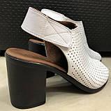Босоножки сандалии женские кожаные белые BRENDA, фото 3