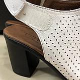 Босоножки сандалии женские кожаные белые BRENDA, фото 4