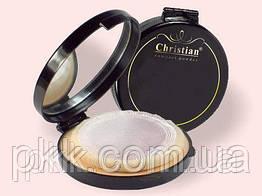 Пудра-крем для лица Christian Compact Powder Black компактная DM-406